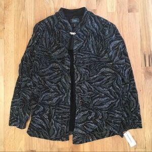 NWT Dressbarn glitter one button jacket 18W